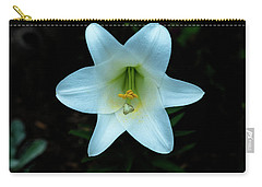 Carry-all Pouch featuring the photograph Garden Lily by Tom Singleton
