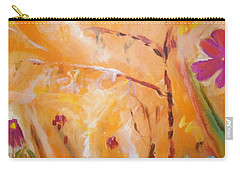 Carry-all Pouch featuring the painting Garden Moment by Winsome Gunning
