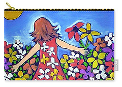 Carry-all Pouch featuring the painting Garden Of Joy by Winsome Gunning