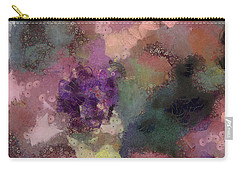 Carry-all Pouch featuring the mixed media Garden Of Love by Trish Tritz