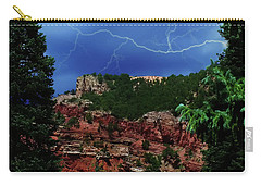 Carry-all Pouch featuring the digital art Garden Of The Gods by Chris Flees
