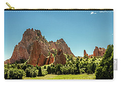 Carry-all Pouch featuring the photograph Garden Of The Gods II by Bill Gallagher