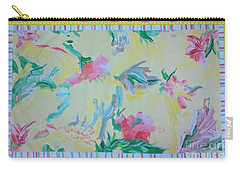 Garden Party Floorcloth Carry-all Pouch by Judith Espinoza