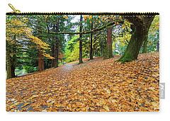 Garden Path Covered In Autumn Leaves Carry-all Pouch