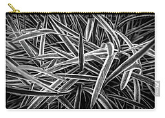 Garden Plant Black And White Carry-all Pouch by Henri Irizarri