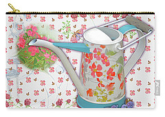 Carry-all Pouch featuring the mixed media Garden Pleasures by Nancy Lee Moran