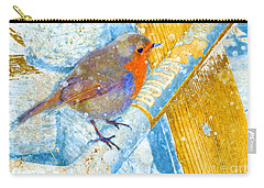 Carry-all Pouch featuring the photograph Garden Robin by LemonArt Photography