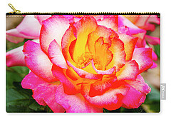 Garden Rose Beauty Carry-all Pouch by Teri Virbickis