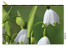 Carry-all Pouch featuring the photograph Garden Snowdrops by Nina Bradica