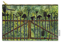 Carry-all Pouch featuring the painting Garden Tools by Hailey E Herrera