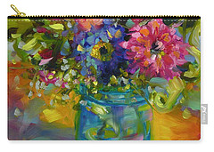Carry-all Pouch featuring the painting Garden Treasures by Chris Brandley
