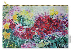 Carry-all Pouch featuring the painting Garden With Reds by Joanne Smoley