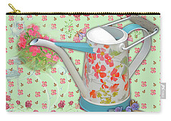 Carry-all Pouch featuring the mixed media Gardening Gifts by Nancy Lee Moran