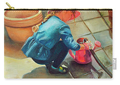Carry-all Pouch featuring the painting Gardening by Marlene Book