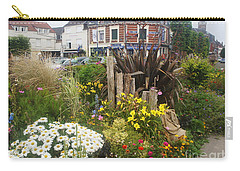 Carry-all Pouch featuring the photograph Gardens At Albert Train Station In France by Therese Alcorn