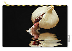 Carry-all Pouch featuring the photograph Garlic Cloves Of Garlic by David French