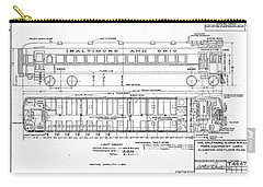 Gas Electric Car Diagram Carry-all Pouch