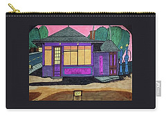 Gasoline Alley Mobil Oil. Historic Menominee Art. Carry-all Pouch by Jonathon Hansen