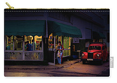 Carry-all Pouch featuring the photograph Gasolinera Linea Y Calle E Havana Cuba by Charles Harden