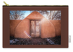 Gate At Galisteo Carry-all Pouch by Mary Lee Dereske