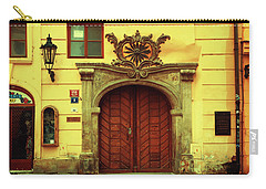 Carry-all Pouch featuring the photograph Gates Of Sun. Series Golden Prague by Jenny Rainbow