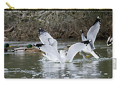 Carry-all Pouch featuring the photograph Gathering Of Egrets by George Randy Bass