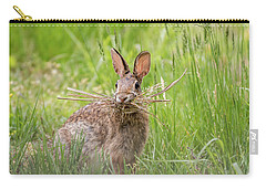 Gathering Rabbit Carry-all Pouch by Terry DeLuco