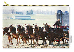 Gathering Up The Hay With A Six Horse Teamin Lancaster County Pennsylvania Carry-all Pouch
