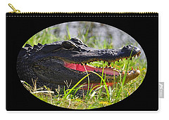 Carry-all Pouch featuring the photograph Gator Grin .png by Al Powell Photography USA