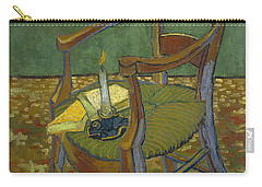 Carry-all Pouch featuring the painting Gauguin's Chair by Van Gogh