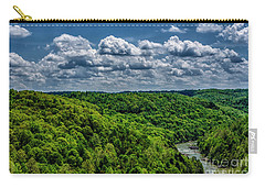 Gauley River Canyon And Clouds Carry-all Pouch
