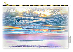 Carry-all Pouch featuring the photograph Gauzy Sunset by Walt Foegelle
