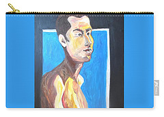 Carry-all Pouch featuring the painting Gay Survivor by Esther Newman-Cohen