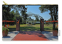 Carry-all Pouch featuring the photograph Gazebo At Celebration Park by Judy Vincent