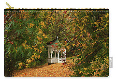Gazebo At Washington Crossing Carry-all Pouch by Elsa Marie Santoro