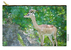 Carry-all Pouch featuring the painting Gazelle Impressions by Judy Kay