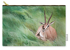 Gazelle In The Grass Carry-all Pouch