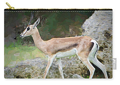 Carry-all Pouch featuring the painting Gazelle Pose by Judy Kay