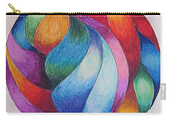 Carry-all Pouch featuring the drawing Gazing Ball 2 by Megan Walsh