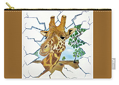 Gazing Giraffe Carry-all Pouch by Teresa Wing