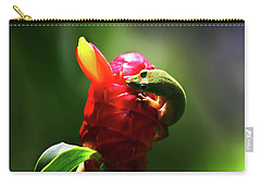 Carry-all Pouch featuring the photograph Gecko #1 by Anthony Jones