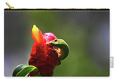 Carry-all Pouch featuring the photograph Gecko #2 by Anthony Jones