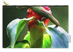 Carry-all Pouch featuring the photograph Gecko #3 by Anthony Jones