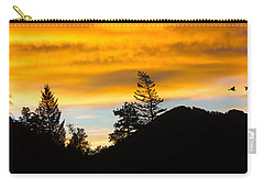 Carry-all Pouch featuring the photograph Geese At Sunrise by Shane Bechler