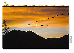 Geese At Sunrise Carry-all Pouch