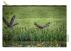 Geese In Flight Carry-all Pouch by Ray Congrove