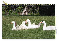 Geese In The Grass Carry-all Pouch