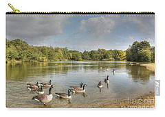 Geese On The Lake Hdr Carry-all Pouch