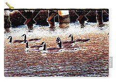 Geese On The Water Carry-all Pouch