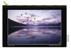 Geese Over Glacier Lake Poster Carry-all Pouch